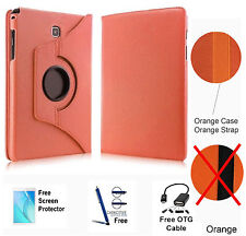 360 Rotating PU Leather Case Cover For Samsung Galaxy Tab A 8.0 T350/P350 Orange