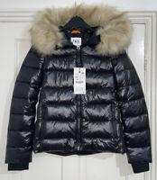 ZARA BLACK SHINY COMFORTEMP® THERMAL INSULATION PUFFER JACKET COAT SIZE XS BNWT