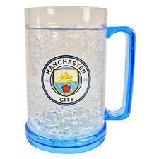 MANCHESTER CITY FC FREEZER MUG TANKARD ICE COLD BEER DRINKIN GLASS NEW XMAS GIFT