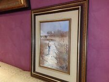 LISTED PATRICK SHIRVINGTON ORIGINAL OIL PAINTING AUSTRALIAN OUTBACK SILVERTON