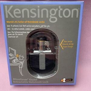 Kensington MicroSaver Keyed 1.2m Retractable Notebook Laptop Lock New (K64538EU)