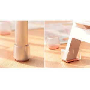 10x Clear Silicone Non-slip Furniture Chair Leg Caps Pad Floor Protector
