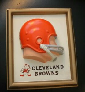 Cleveland Brown 1965 NFL Technigraph Helmet Wall Plaque  - Excellent