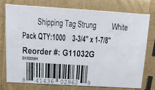 Box Of 1000 Prestrung Color Shipping Tags 3 34 X 1 78 White