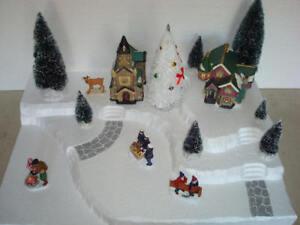 Christmas Village Display Platform J20 For Lemax Dept 56 Dickens + More
