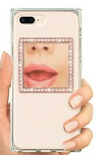 New!  IDecoz PHONE MIRROR RESTICKABLE ROSE GOLD SQUARE WITH CRYSTALS