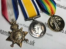 "WW1 Medal Trio, 1914 ""Mons"" Star, British War And Victory Medals, Brand New"