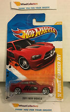 '11 Dodge Charger R/T #43 * RED * 2011 Hot Wheels * A17