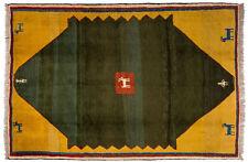 Großteppich Gabbeh Lori ca. 190x280 cm | Grün | Schurwolle | handgeknüpft
