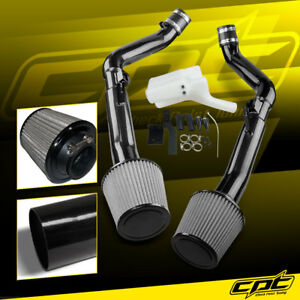 For 08-13 G37 2dr/4dr 3.7L V6 Black Cold Air Intake + Stainless Steel Air Filter