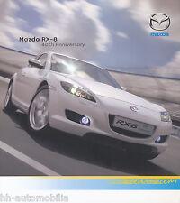 MAZDA rx-8 40th Anniversary PROSPEKT 10.9.07 brochure 2007 auto PKW Auto prospetto
