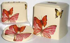 NEW BUTTERFLY BATHROOM SET Garden Bug Tissue Box Soap