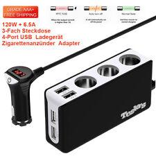 3-Fach Auto Zigarettenanzünder Verteiler Steckdose KFZ 4 USB Ladegerät Adapter