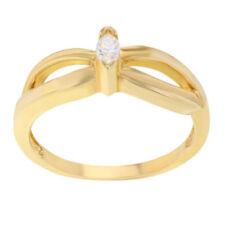 Anelli con diamanti naturale colore fantasia in oro giallo