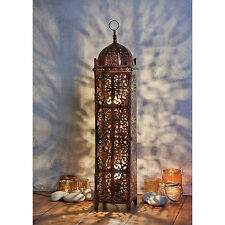 BNIB New Large 2 Bulb Antique Style Bronze Metal Moroccan Floor Lamp Light
