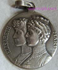 BG6137 - MEDAILLE REINES MARIE & ELISABETH 1914-1915  par DROPSY en ARGENT