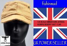 DRAGON 1:6 MINIATURE GERMAN WW2 WWII AFRIKA KORPS DESERT TAN COMBAT CAP HAT