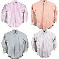 Polo Ralph Lauren Mens Yarmouth Buffon Down Shirt Lot Of 4 Striped 15-33/34 2801