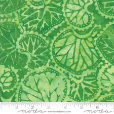 Bahama Batiks Moda cotton batik fabric by half-yard Palm #4352 20 light green