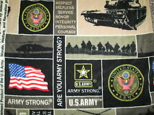 ARMY USA ARE YOU ARMY STRONG FLAG FLEECE FABRIC OOP