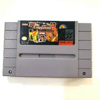 WWF Super Wrestlemania - WWE - SNES Nintendo Game Tested & Working!