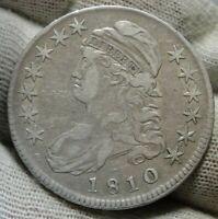 1810 Capped Bust Half Dollar 50 Cents - O-107a R-3, Nice Coin (9483)