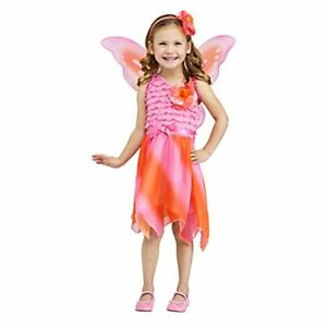 Fun World Girl Firefly Fairy Halloween Costume Toddler Small Orange & Pink