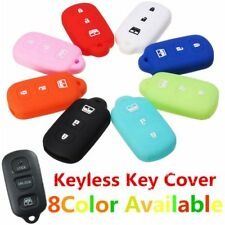 4 Buttons Silicone Fob Remote Key Case Cover For Toyota 4Runner Sequoia Matrix