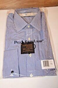 Polo Ralph Lauren Men's Curham Button Down Blue Stripe Dress Shirt 16 / 35 NWT