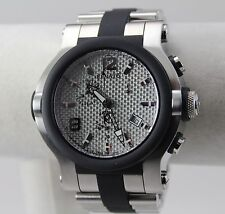 Renato Men's T-Rex Watch, Swiss ETA G10, SS w/Rubber Integration, Silver CF Dial