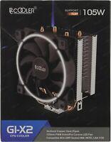 PCCOOLER GI-X2W CORONA CPU Cooler 120mm PWM Fan 2 HP for 1366 2011 2066 AMD AM4