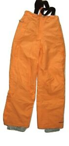 Trespass Ski Pants Melon Orange Waterproof Windproof Breathable Braces Thermos