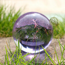 Asian Rare Natural Quartz Purple Magic Crystal Healing Ball Sphere 40mm + Stand