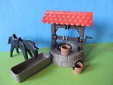Playmobil Ziehbrunnen Brunnen kompl. 3666 3450 3295 medieval set well with horse