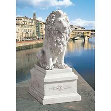 Ky97113 - Lion of Florence Sentinel Statue & Base - Grandeur of Italian Estates!