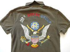 New Ralph Lauren Polo Custom Fit Green USA Eagle Patch Summer Shirt M