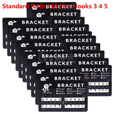 100XOrthodontic Dental Bracket Metal Braces Standard Roth 018 Slot Hooks 3 4 5