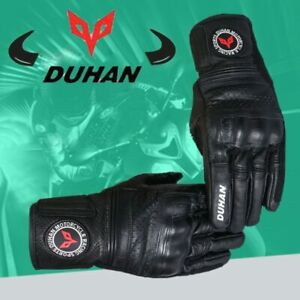Motorcycle Genuine Leather Gloves DUHAN Racing Gloves Off-road Seasons Cowhide
