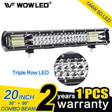 20 Inch 5D 144W LED Work Light Bar Flood Spot Combo Offroad Truck SUV Boat Lamp