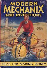 Popular Mechanix And Inventions December 1932 Baloon Bicycle VG 062716DBE