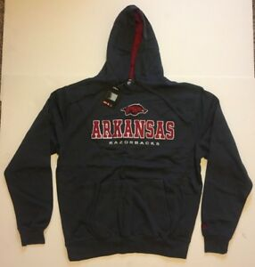 Arkansas Razorbacks Pullover Hooded Sweatshirt Hoodie - Colosseum Charcoal NWT