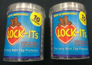 (2)x Packs TY Tag Protectors Lock-Its Beanie Baby Clear Storage Holders 20Ct Lot