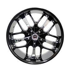 Set of 4 GWG Wheels 18 inch Black Chrome SAVANTI Rims fits 5x115 ET40 CB74.1