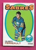 1971-72 OPC  # 60 SABRES GILBERT PERREAULT 2ND YEAR EX+  CARD (INV# C1701)
