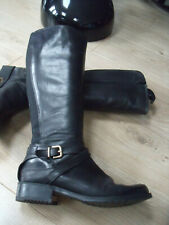CLARKS BLACK LEATHER KNEE HIGH BOOTS SZ 6 GREAT CONDITION