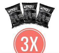 3x Paqui Tortilla Chips Ghost Pepper Chilli - One Chip Challenge - 57g per bag