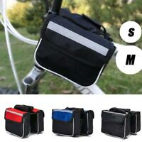 Bicycle Cycling Mountain Bike Frame Front Tube Small Pannier Saddle Pouch Bag-