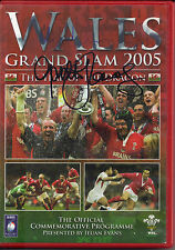 "Wales Grand Slam 2005 (DVD) SIGNED ""TTM"" BY MICHAEL OWEN & GARETH THOMAS ( COA )"
