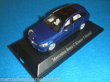 Mercedes Benz S 205 New C Klasse/C Class T Modell/Estate Brilliantblau 1:43 Neu