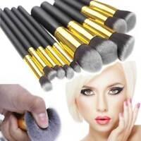 10pcs Makeup Brushes Cosmetic Eyebrow Blush Foundation Powder Kit Set PRO